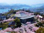 「瀬戸内海と桜の美景」尾道千光寺公園と今治城